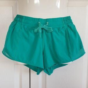 Lululemon Hotty Hot Short Shorts Bali Breeze Green